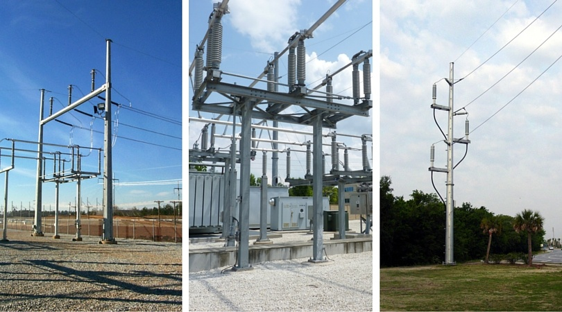 Galvanized steel structures for Utility Industry